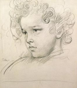 Study of a Young Boy's Head by Augustus Edwin John