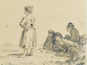 The Wreckers, C.1900 by Augustus Edwin John