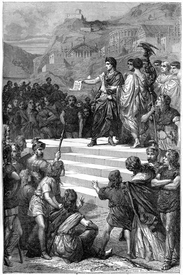 Augustus Establishes the Centre of Government of Gaul in Lyon, 28 BC-Bertrand-Giclee Print