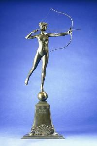 Diana of the Tower', a Bronze Figure, 1899 by Augustus Saint-gaudens
