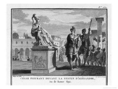 Caesar Weeps Before the Statue of Alexander