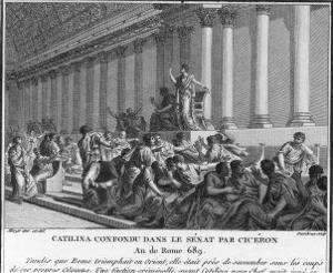 Catiline Plotting to Seize Power in Rome is Denounced in the Senate by Cicero by Augustyn Mirys