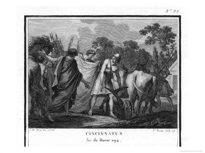 Cincinnatus is Called from the Plow to Serve as Consul