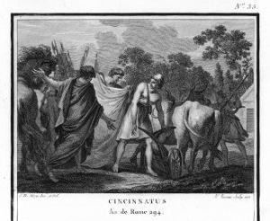 Cincinnatus is Called from the Plow to Serve as Consul by Augustyn Mirys