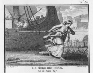Claudia Quinta Clears Her Name by Dragging a Ship Bearing a Statue of the Mother Goddess into Rome by Augustyn Mirys