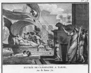 Cleopatra VII in Her Barge on the Nile by Augustyn Mirys
