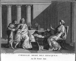Cornelia Mother of the Gracchi Who When Asked by an Inquisitive Visitor by Augustyn Mirys