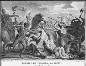 Crassus Member of Triumvirate with Caesar and Pompeius Wages War Against Parthians by Augustyn Mirys