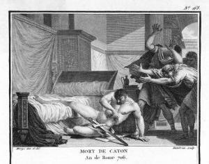 Marcus Cato Uticensis Opposing Caesar by Augustyn Mirys