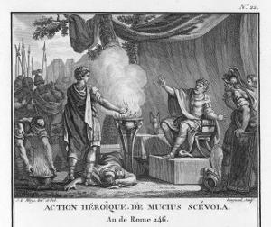 Mucius Scaevola, Would-Be Assassin of Lars Porsena by Augustyn Mirys