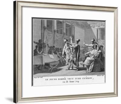 Pompeius' Son Sextus Pompeius Magnus Opposes Cicero's Policies and Threatens to Kill Him