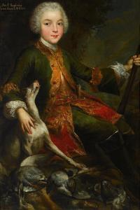 Portrait of Józef Sapieha (1737-179), C. 1740 by Augustyn Mirys