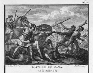 Second Punic War Scipio Africanus Defeats Hannibal at Zama in North Africa by Augustyn Mirys