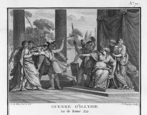 Teuta Queen of the Illyrians Orders the Roman Ambassadors to be Killed by Augustyn Mirys