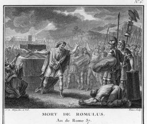 The Death of Romulus by Augustyn Mirys