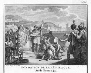 The Foundation of the Roman Republic Following the Expulsion of the Tarquins Last Kings of Rome by Augustyn Mirys
