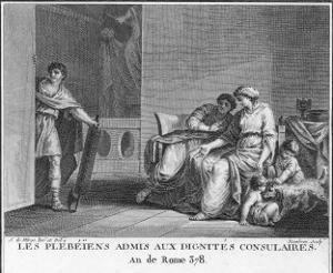 The Plebeians are Admitted to Consular Dignity by Augustyn Mirys