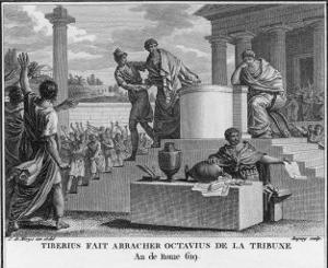 Tiberius Gracchus Unconstitutionally Deposes Octavius from the Office of Tribune by Augustyn Mirys