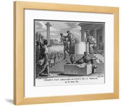 Tiberius Gracchus Unconstitutionally Deposes Octavius from the Office of Tribune