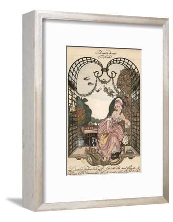 Aupres de Ma Blonde-Gerda Wegener-Framed Giclee Print