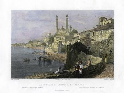 Aurangzeb's Mosque at Benares, India, 19th Century-W Cook-Giclee Print