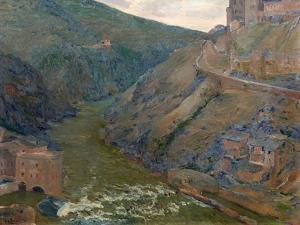 The Tagus, Toledo, 1905 by Aureliano De Beruete