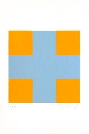 Une croix pour quatre carrés