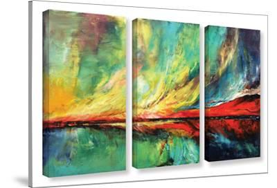 Aurora 3 Piece Gallery Wrapped Canvas Set