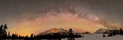 Aurora Borealis And Milky Way Over Yukon, Canada-Stocktrek Images-Photographic Print