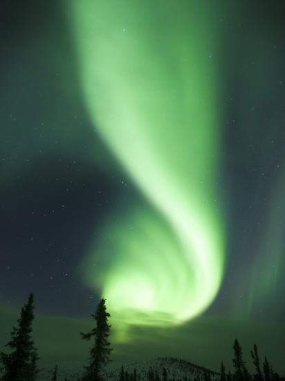 Aurora Borealis, Fairbanks, Alaska, USA-Julie Eggers-Photographic Print
