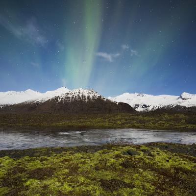 Aurora Borealis, Hafrafell, Skaftafell, South Iceland, Iceland-Rainer Mirau-Photographic Print