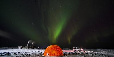 Aurora Borealis in the Sky Above a Planetarium in Iceland-Chad Copeland-Photographic Print