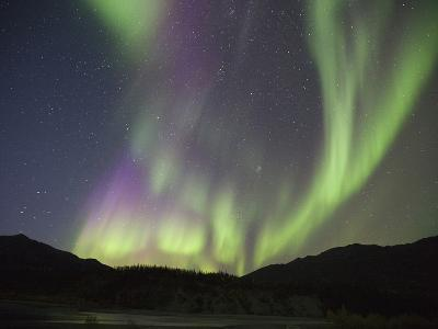 Aurora Borealis, Koyukuk River, Alaska, USA-Hugh Rose-Photographic Print