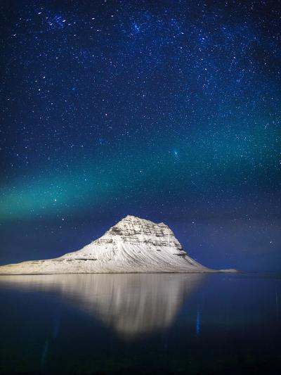Aurora Borealis or Northern Lights in Iceland-Arctic-Images-Photographic Print