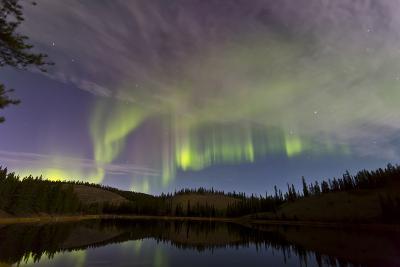 Aurora Borealis over Hidden Lake, Yukon, Canada--Photographic Print