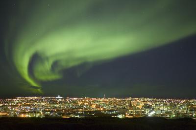 Aurora Borealis over Reykjavik-Arctic-Images-Photographic Print