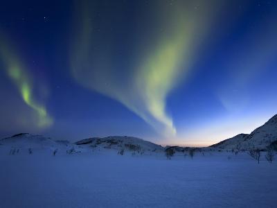 Aurora Borealis over Skittendalen Valley in Troms County, Norway-Stocktrek Images-Photographic Print