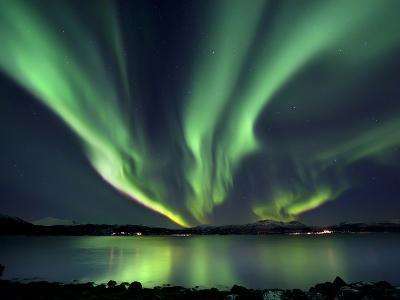 Aurora Borealis over Tjeldsundet in Troms County, Norway-Stocktrek Images-Photographic Print