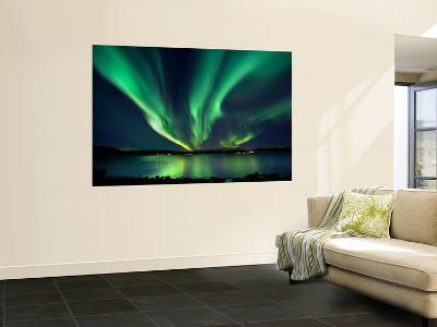 Aurora Borealis over Tjeldsundet in Troms County, Norway-Stocktrek Images-Wall Mural