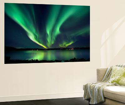 Aurora Borealis over Tjeldsundet in Troms County, Norway-Stocktrek Images-Giant Art Print