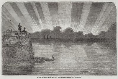 Aurora Borealis, Seen from the Pier, at Boulogne--Giclee Print