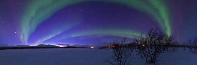 Aurora Borealis, with Jupiter and Venus in a Rare Close Conjunction-Babak Tafreshi-Photographic Print