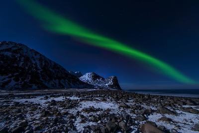 Aurora Borelis in Norway 4-Philippe Sainte-Laudy-Photographic Print