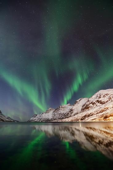 Aurora Ersfjordbotn-John Hemmingsen-Photographic Print