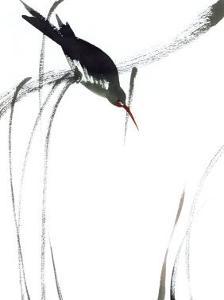 Perched Bird by Aurore De La Morinerie