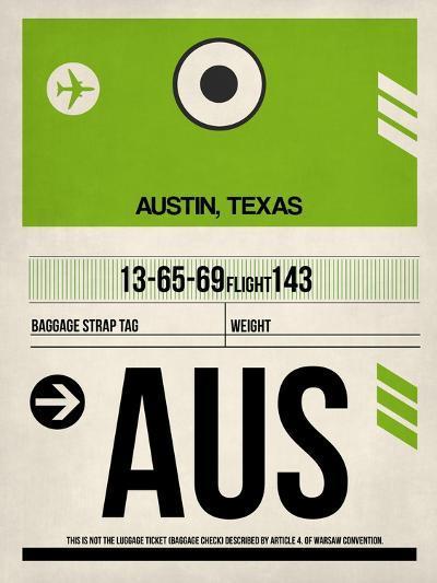 AUS Austin Luggage Tag 1-NaxArt-Art Print