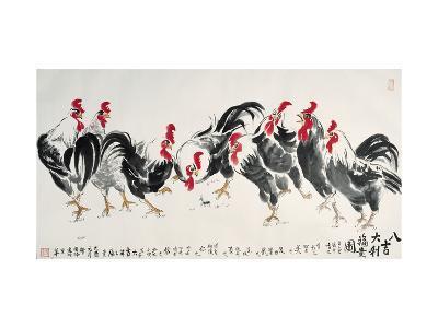 Auspicious Chickens-Guozen Wei-Giclee Print