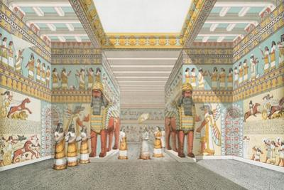Hall in Assyrian palace (restored), 1849 by Austen Henry Layard