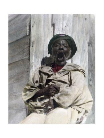 An Elderly Beggar Sings a Chant to Attract Attention of Passers-By by Austin A. Breed