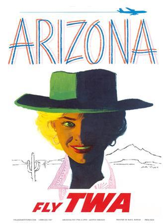 Arizona - Fly TWA (Trans World Airlines) - Cowgirl